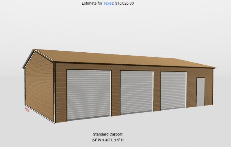 2021 Star 24'x40'x9' 3 Car Garage Garage/Carport