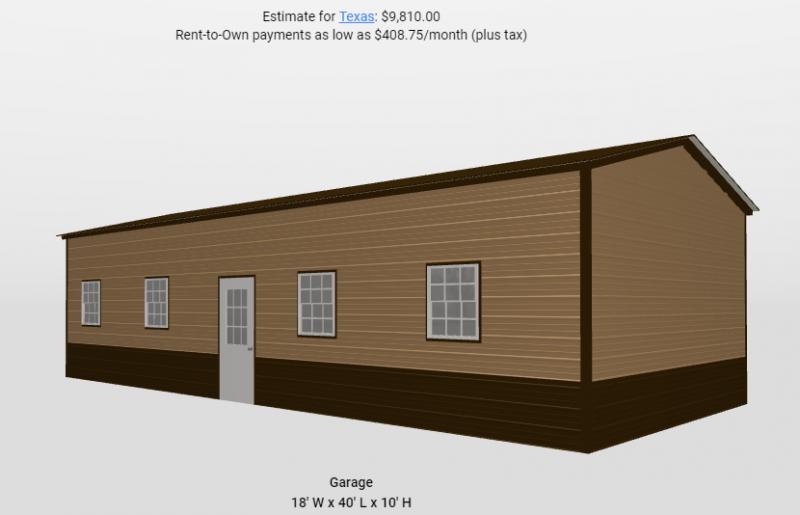 2021 Star 18'x40'x10' Metal Building
