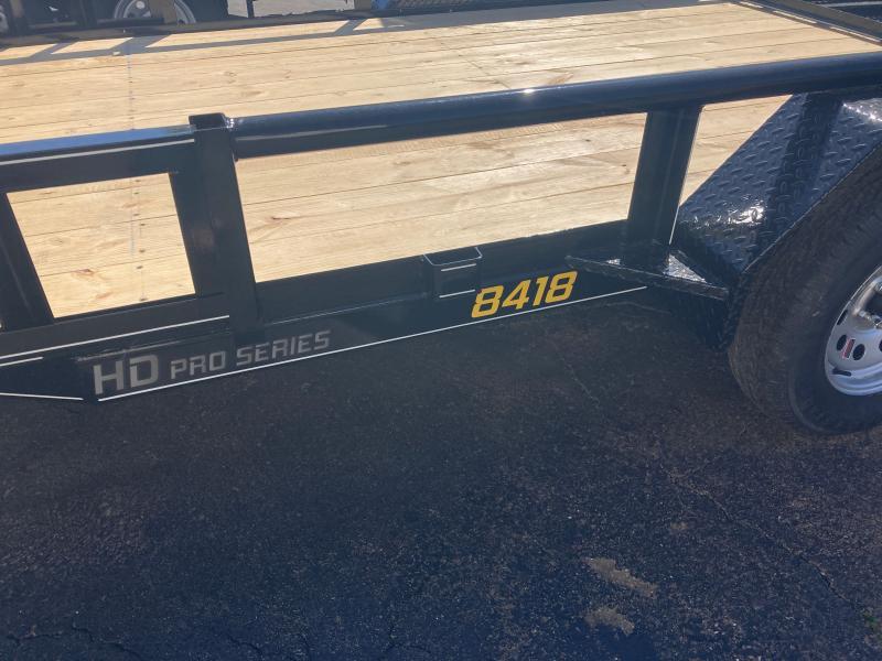 2021 Doolittle Trailer Mfg 84x187K Utility Trailer w ATV Side Ramps