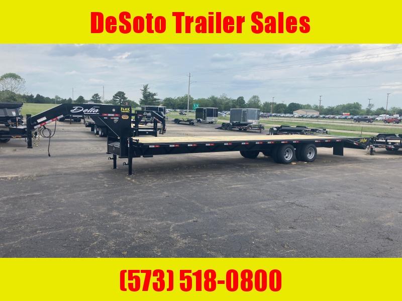 2021 Delta Manufacturing 210GN Tandem 10K 30 + 5 Dually Gooseneck Equipment Trailer