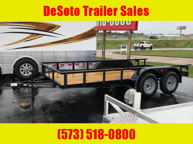 "2019 Rivercraft 76"" x 14' Tandem Axle Utility Trailer"