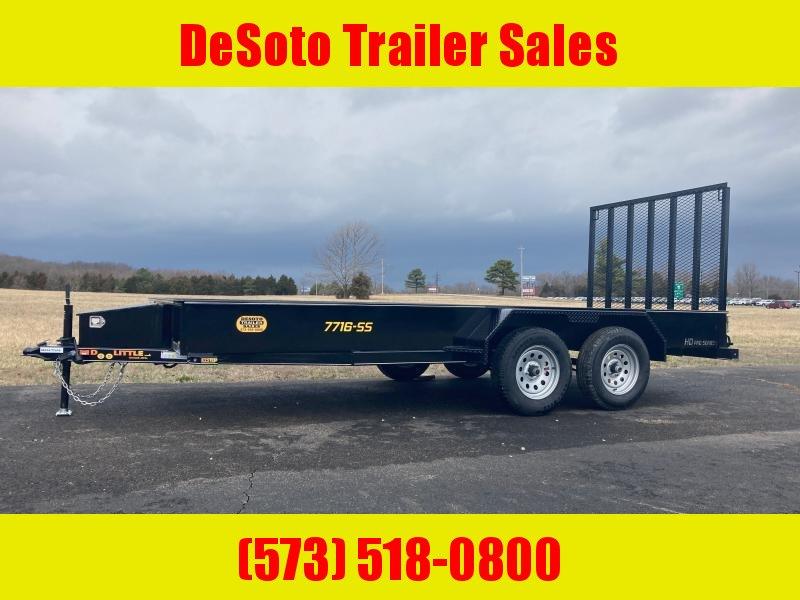 2022 Doolittle Trailer Mfg UT77X167K Utility Trailer w/ Double Electric Brakes