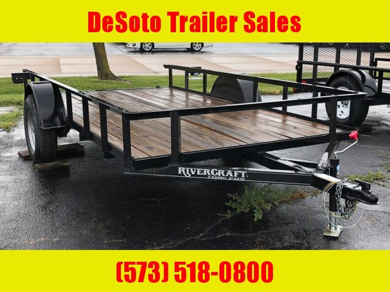 "2018 Rivercraft 76"" x 12' Single Axle Utility Trailer"