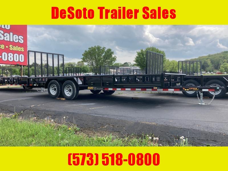2021 Doolittle Trailer Mfg UT84X20 10K Utility Trailer ATV Ramps, Double Brakes