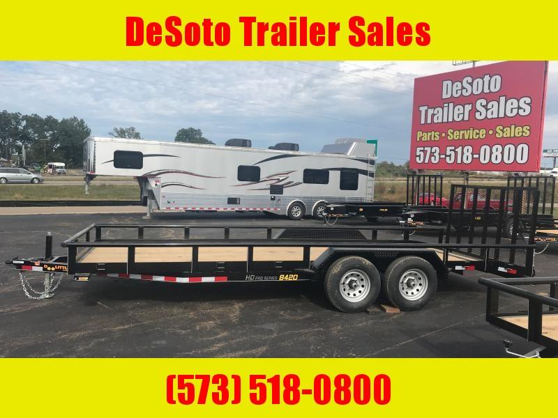 2021 Doolittle Trailer Mfg UT84X20 10K Utility Trailer w Dovetail