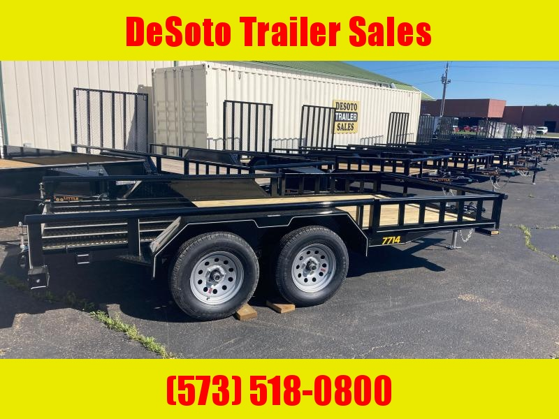 2021 Doolittle Trailer Mfg 77 X 14 7K w ATV side ramps Utility Trailer