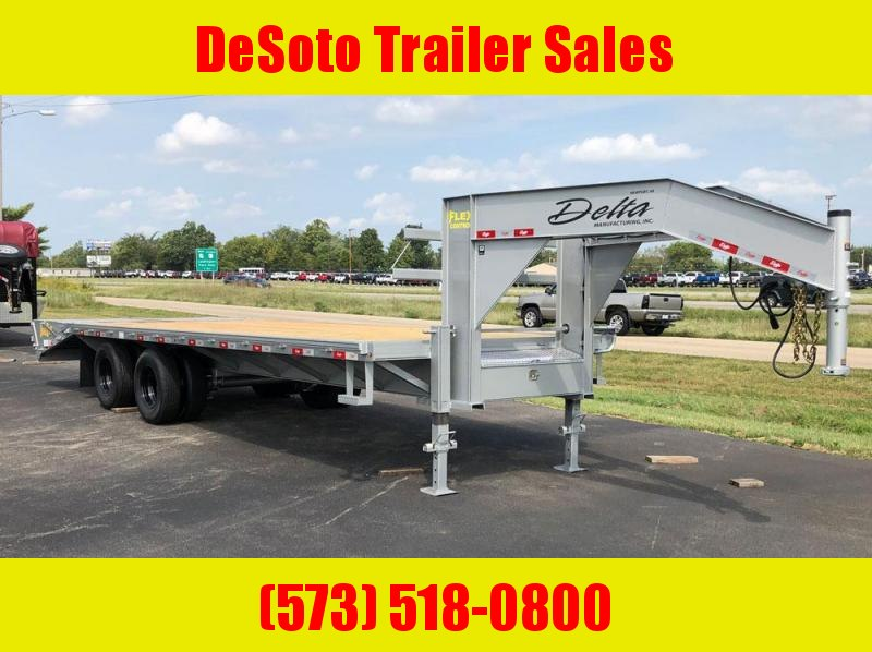 2020 Delta 25' (20+5) Gooseneck Equipment Trailer w/ 5' Super Ramps