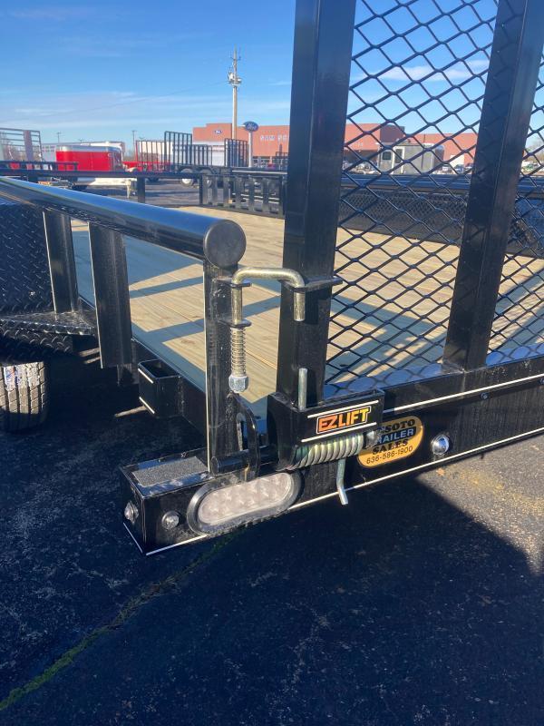 2021 Doolittle Trailer Mfg UT84X167K Utility Trailer w ATV RAMPS