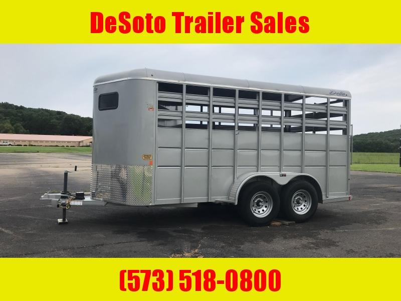2019 Delta Manufacturing 16' Bumper Pull 500 Economy Horse Trailer