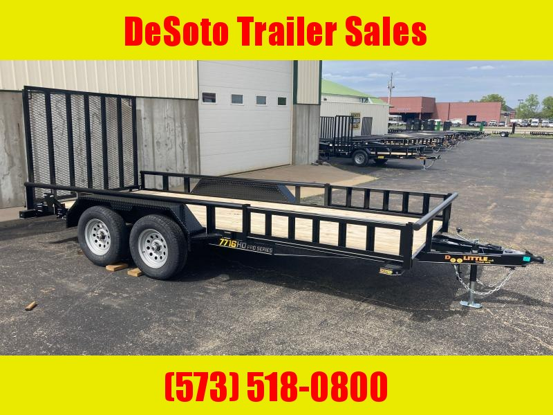 2021 Doolittle Trailer Mfg UT77X167K w ATV Ramps Utility Trailer