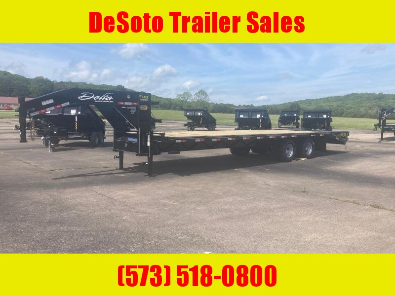 2021 Delta Manufacturing 210GN Tandem 10K 25 + 5 Dually Gooseneck Equipment Trailer