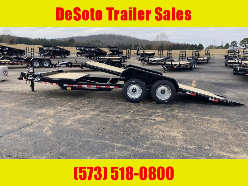 2020 Delta Manufacturing 28TB Bumper Pull Tilt Bed Equipment Trailer
