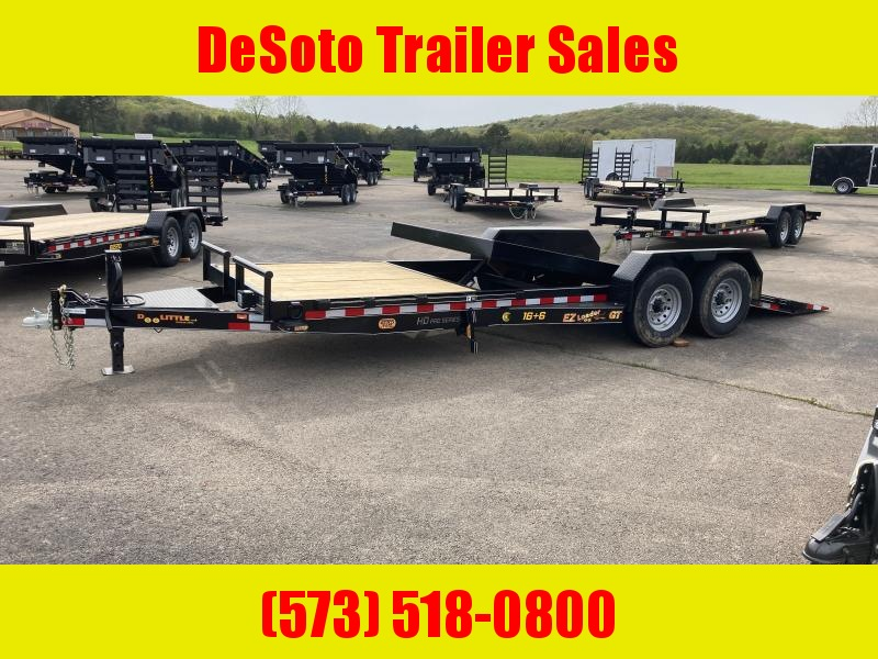 2021 Doolittle Trailer Mfg 82 x 22 14K EZ Loader GT (16 + 6) Tilt Bed Equipment Trailer