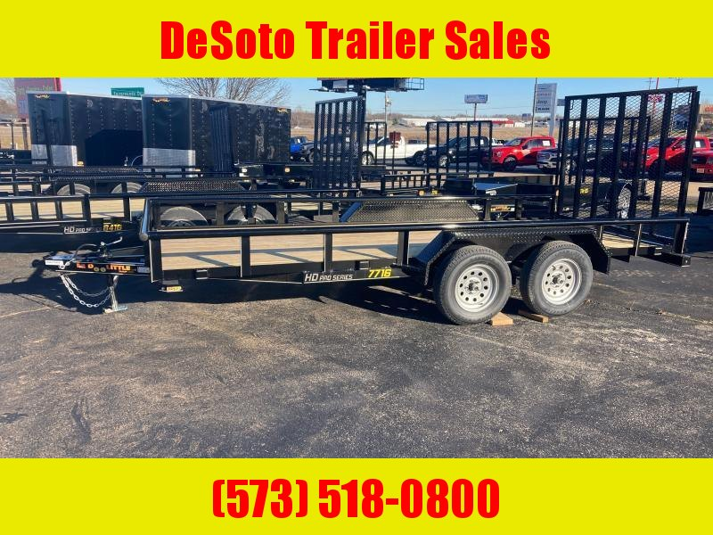2021 Doolittle Trailer Mfg UT77X167K Utility w Double Electric Brakes