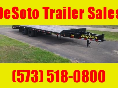 2018 Big Tex 22PH 20' Pintle Hitch Equipment Trailer w/ 5' Mega Ramps