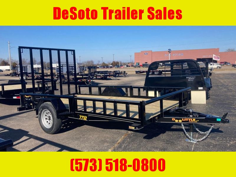 2021 Doolittle Trailer Mfg UT77X123K Utility Trailer w ATV Ramps