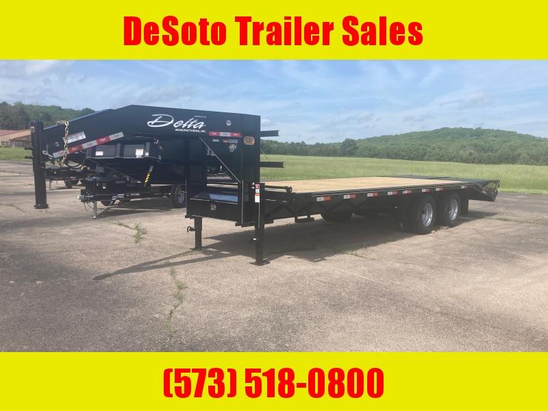 2021 Delta Manufacturing 210GN Tandem 10K 20 + 5 Dually Gooseneck Equipment Trailer