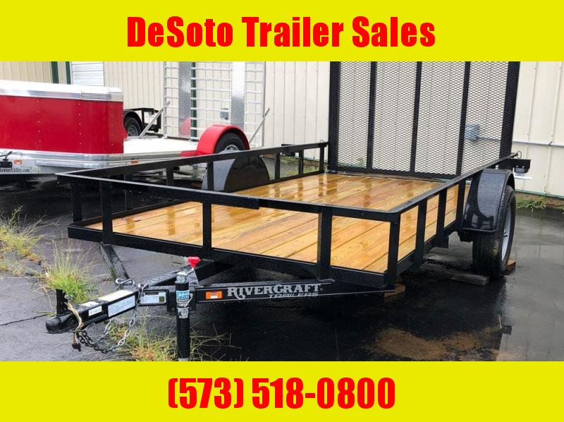 "2019 Rivercraft 76"" x 12' Single Axle Utility Trailer"