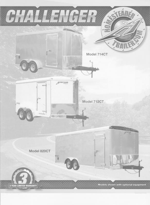 2021 Homesteader Trailers Challenger 716CT Enclosed Cargo Trailer