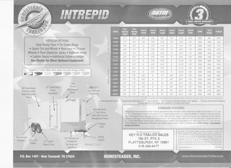 2021 Homesteader Trailers Intrepid 508IS Enclosed Cargo Trailer