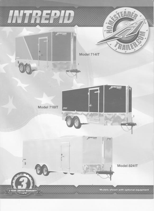 2021 Homesteader Trailers Intrepid 712IS Enclosed Cargo Trailer