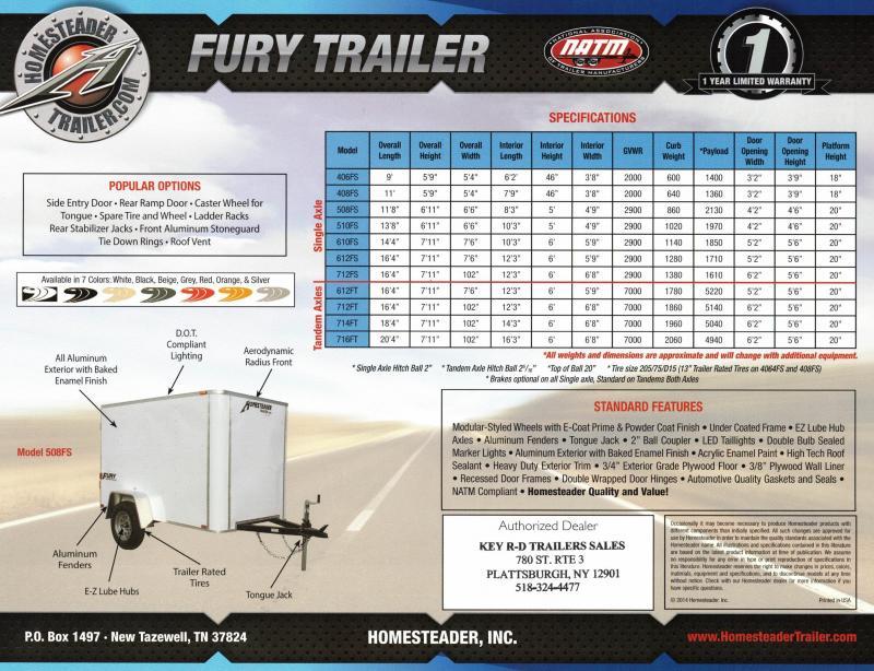 2021 Homesteader Trailers Fury 406FS Enclosed Cargo Trailer