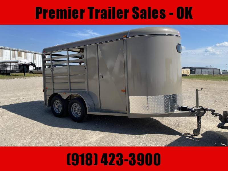 2021 W-W Trailer Wrangler 2 horse slant Livestock Trailer