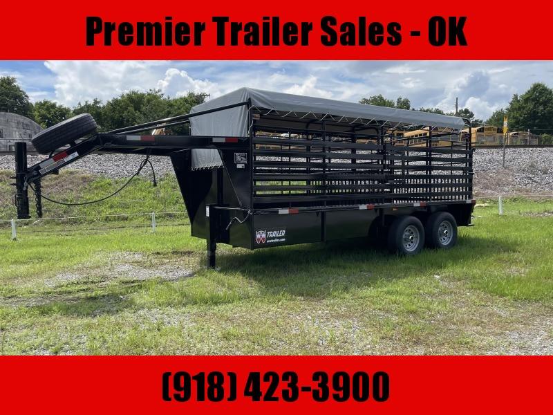 2021 W-W Trailer Roustabout Livestock Trailer