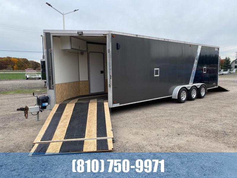 Used 2013 Legend Trailers 7X31 Explorer Tri-Axle 5-Place Snowmobile Trailer