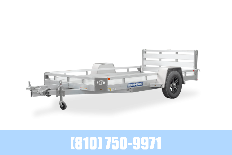 2021 Sure-Trac 7X14 Aluminum Low Side Utility Trailer