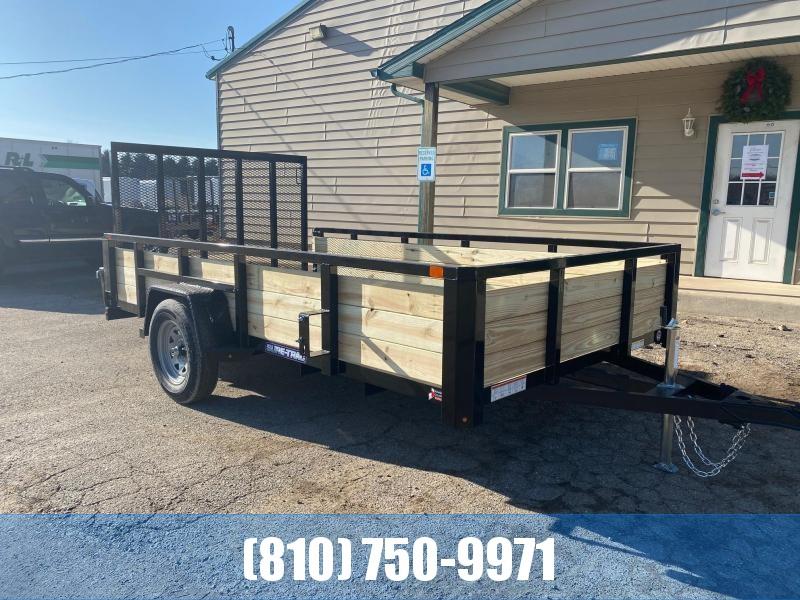 2021 Sure-Trac 7x12 3-Board High Side Utility Trailer