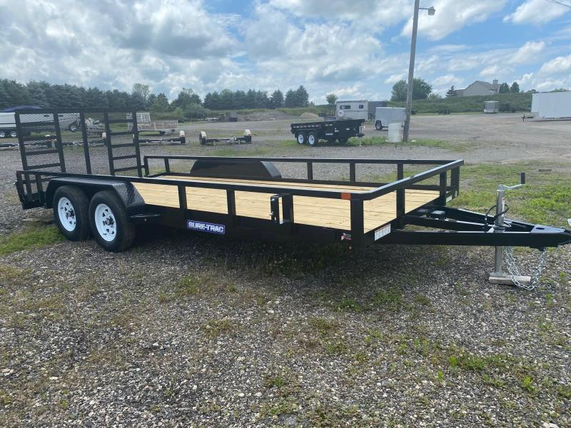 2021 Sure-Trac 7x18 Tube Top Utility Trailer with Beavertail