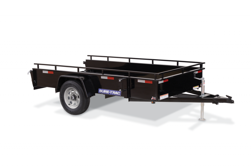 2022 Sure-Trac 6x12 Steel High Side Utility Trailer with 2' Tall Sides