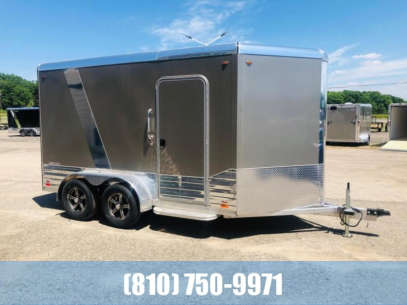 REDUCED 2019 Legend 7x15 Deluxe V-Nose All-Aluminum Enclosed Trailer