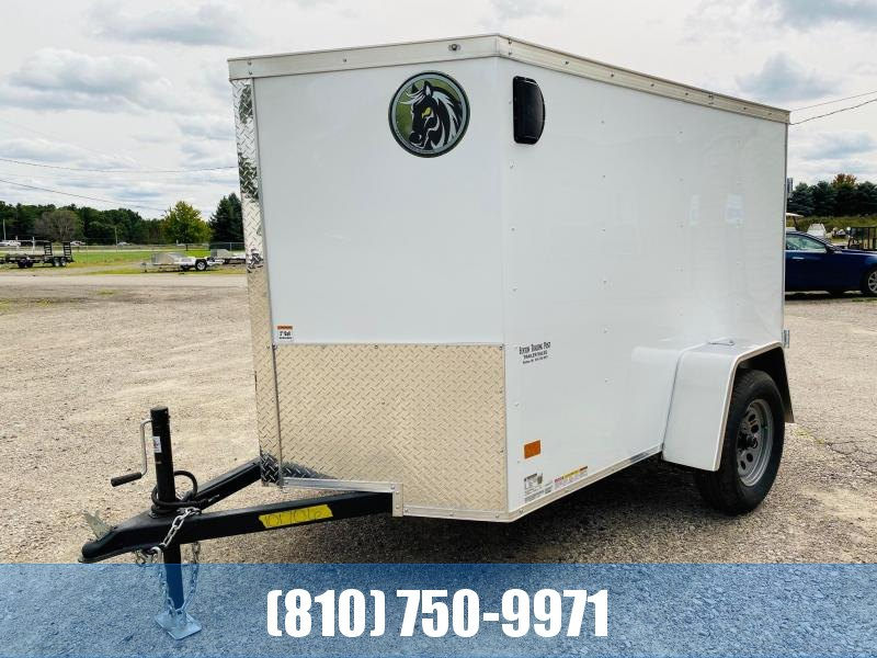 2021 Darkhorse Cargo 5X8 Enclosed Cargo Trailer with Double Rear Doors