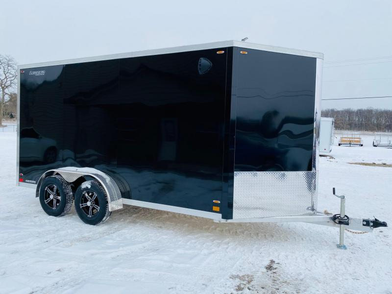 2021 Legend Trailers 7x17 (7x14+3' V-Nose) Flat-Top V-Nose Aluminum Enclosed Cargo Trailer