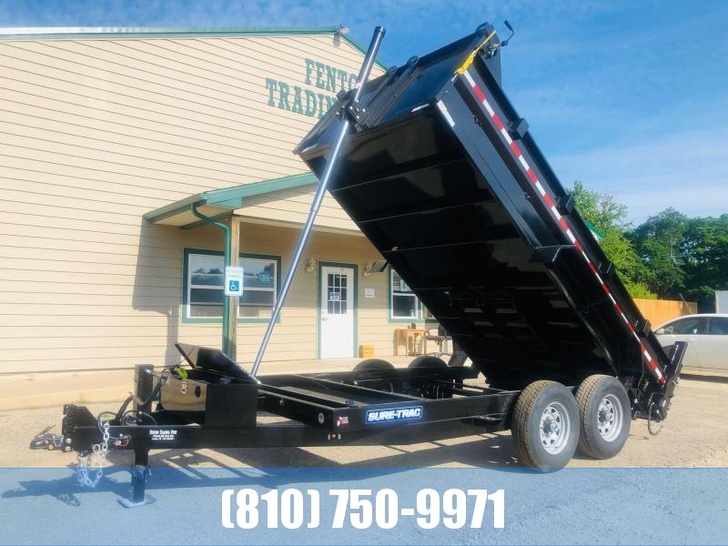 2021 Sure-Trac 82 x 14 14K HD Low Profile Dump (Telescopic) Dump Trailer