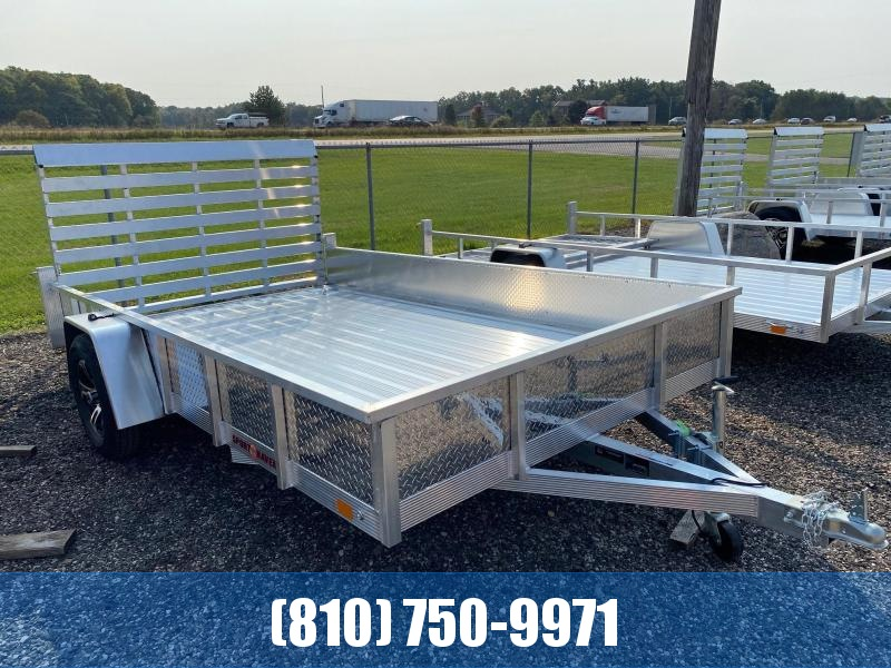 2021 Sport Haven 7x12 Deluxe Aluminum Utility Trailer with Sides