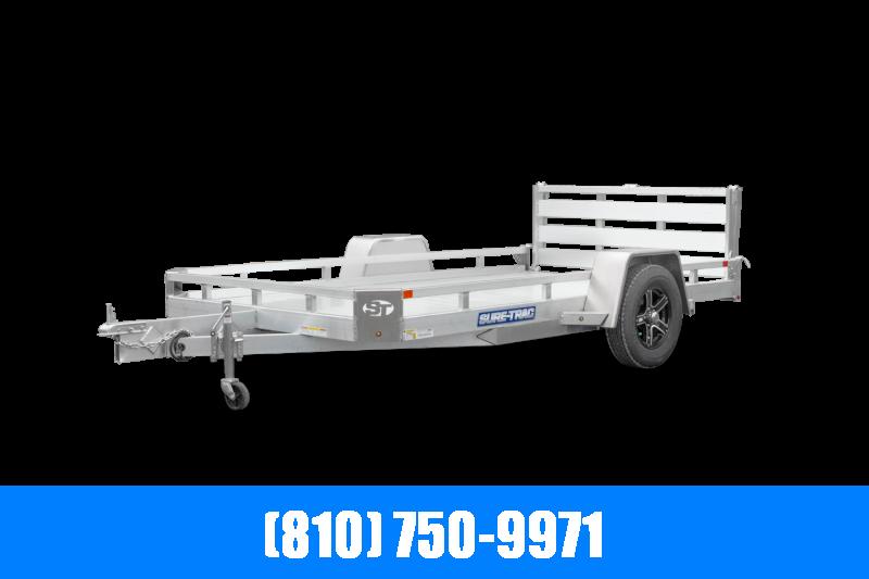 2021 Sure-Trac 7X14 Aluminum Low Side Utility Trailer