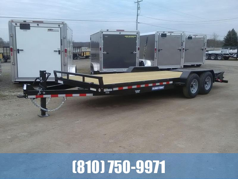 2021 Sure-Trac 7x20 (17'+3' Beavertail) Equipment Trailer with Universal Ramps