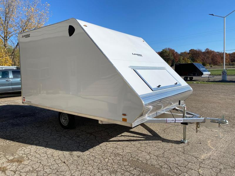 2021 Legend Trailers 8.5X13 Sport Lite Hybrid Snowmobile Trailer with Ski Guides & Traction Mats
