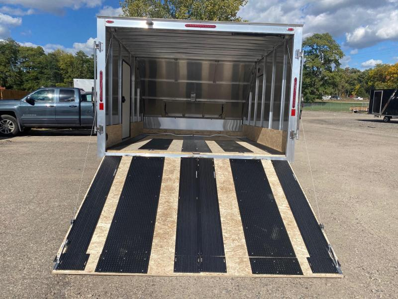 2021 Legend Trailers 8.5X13 Sport Lite Hybrid Snowmobile Trailer with Ski Slides & Traction Mats