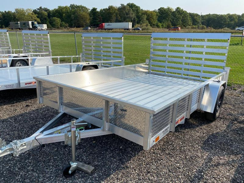 2021 Sport Haven 7x12 All Aluminum Utility Trailer with ATP Sides
