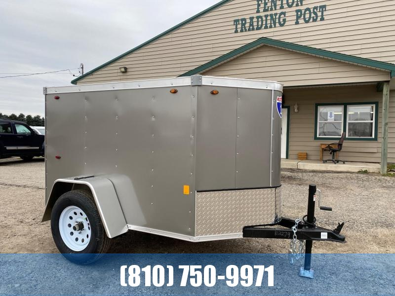 2021 Interstate 1 Trailers 4x6 Enclosed Cargo Trailer with RAMP