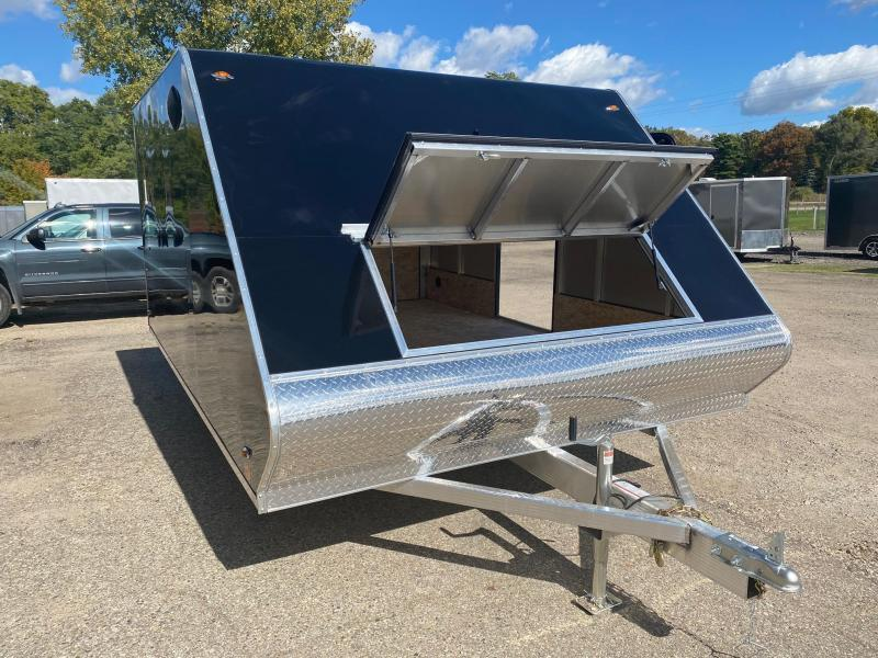 2021 Legend Trailers 8.5X13 Hybrid Snowmobile Trailer with Slides & Mats