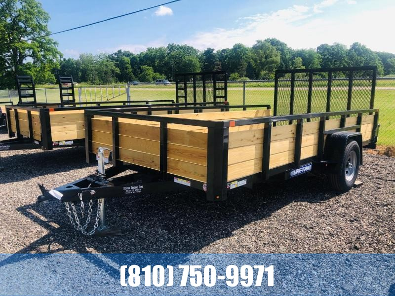 2021 Sure-Trac 7x14 3-Board High Side Utility Trailer with 5K Axle with Brakes