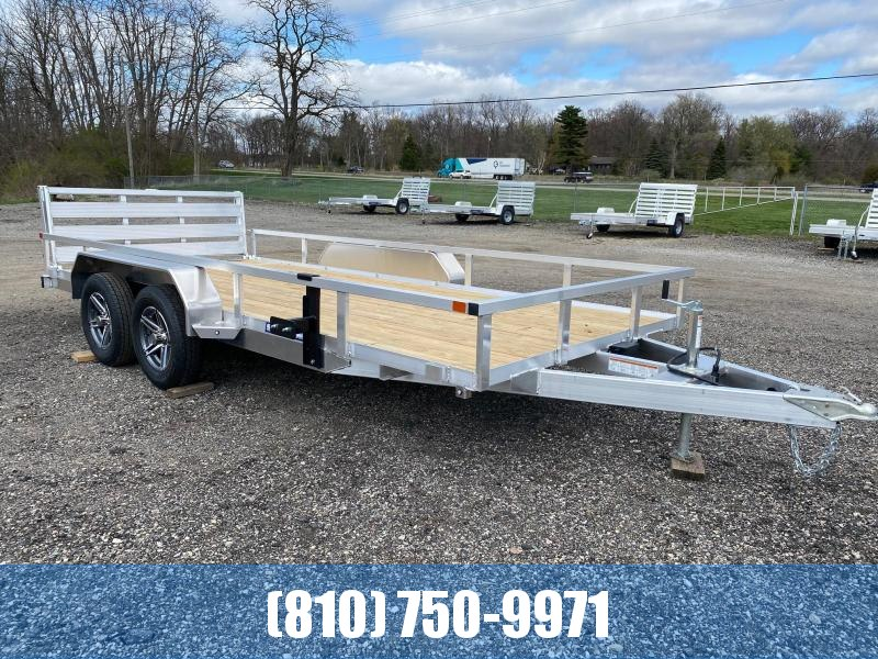 2021 Sure-Trac 7X16 Aluminum Tube Top Utility Trailer