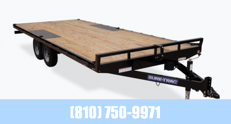 2021 Sure-Trac 8.5x18 10K Flatbed Deckover Trailer