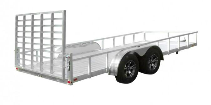 2021 Sport Haven 7x12 Deluxe All Aluminum Utility Trailer