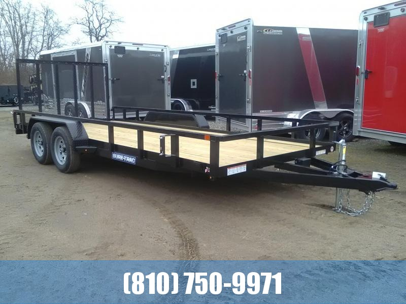 2021 Sure-Trac 7x18 Tube Top Utility Trailer